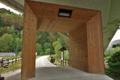průjezdová brána na cyklostezce Alpe Adria