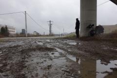 Martin Štverák pod mostem