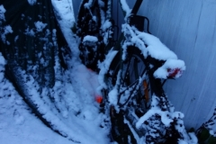zasněžené kolo