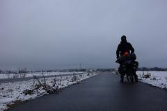 Martin Štverák v zasněžené krajině