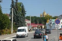zlaté kopule pravoslavného chrámu