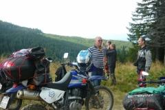 čeští motorkáři v Karpatech