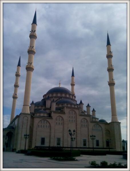 muslimská mešita v Čečensku srdce Čečny