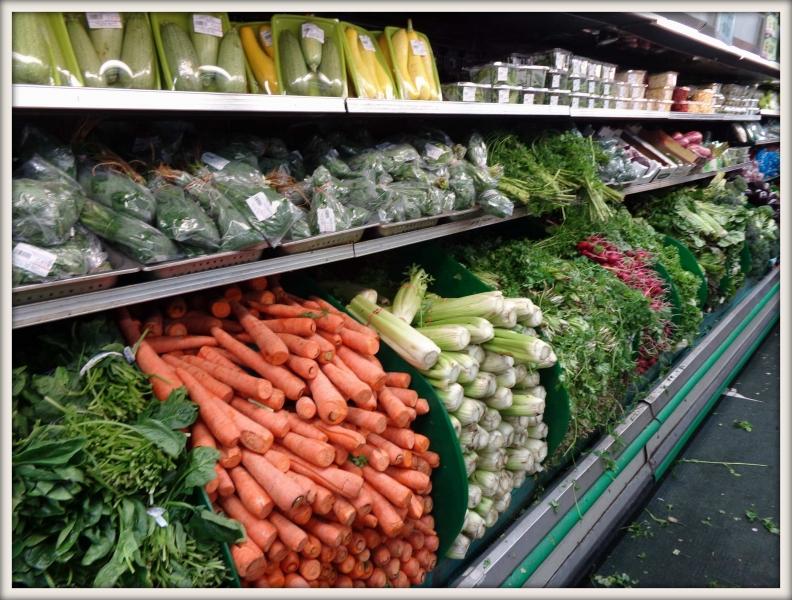 zelenina v americkém obchodě
