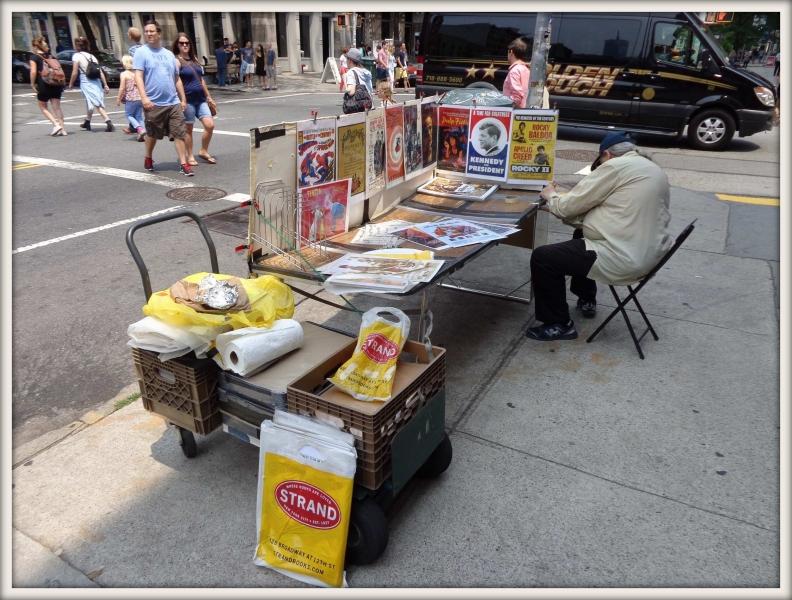 pouliční prodejce obrázků
