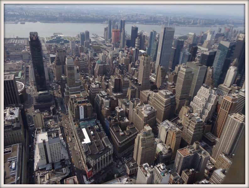 pohled na Manhattan z mrakodrapu