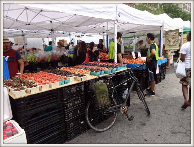 farmářský trh v New Yorku