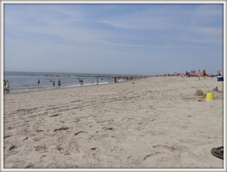 písečná pláž v New Yorku