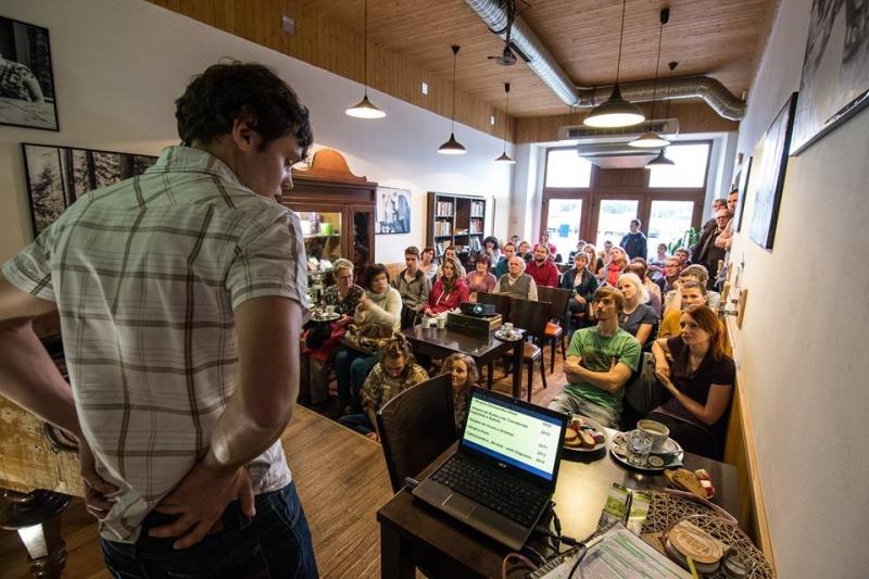 Martin Štverák přednáška v Café Tucan