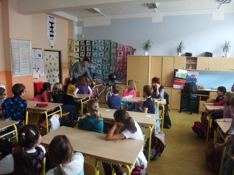 Martin Štverák přednáška ve 4. třídě ZŠ Křížná