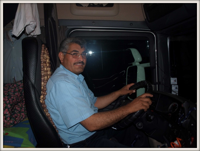 íránský řidič kamionu Rasul