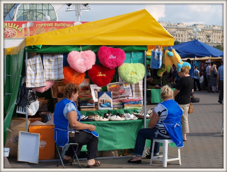 ženy prodávající suvenýry