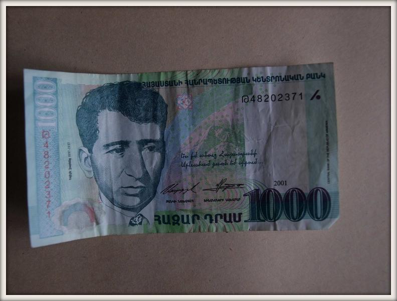 arménská bankovka