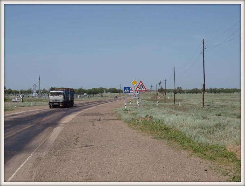 silnice z Astrachaně do Volgogradu