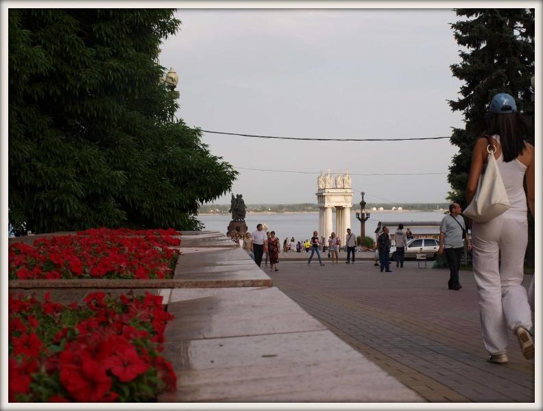 cesta k Volze ve Volgogradě