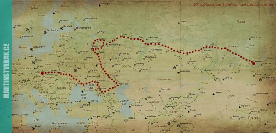 mapa Stopem do Ruska