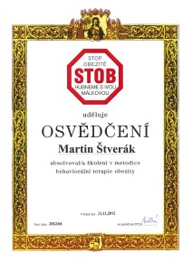 Osvědčení STOP obezitě