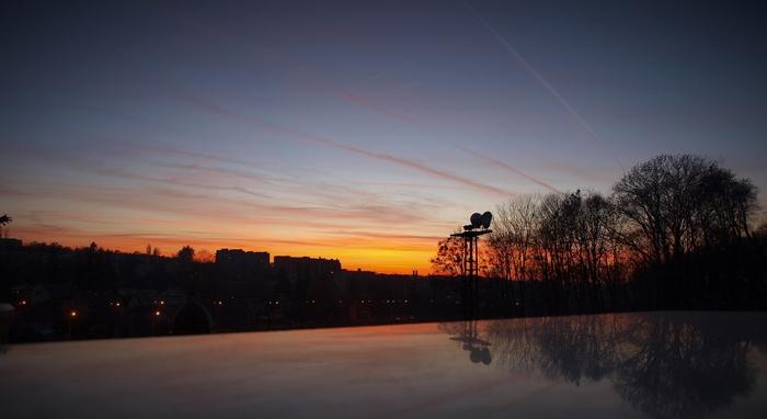 západ slunce ve Lvově