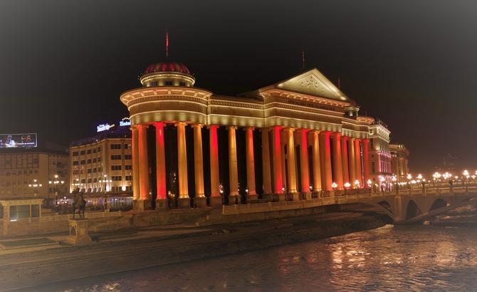 noční Skopje