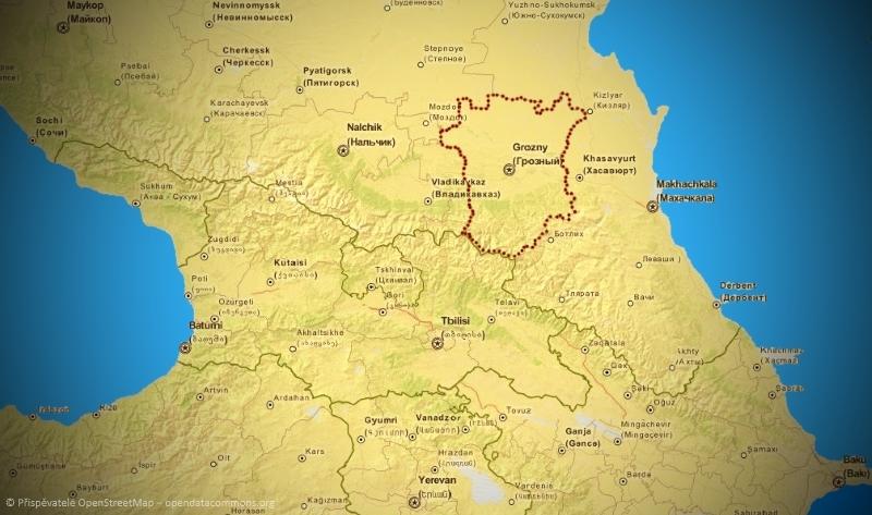 Čečensko mapa