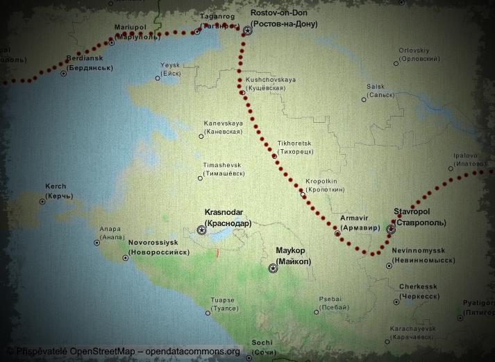Drogový byznys na KAVKAZE - mapa1