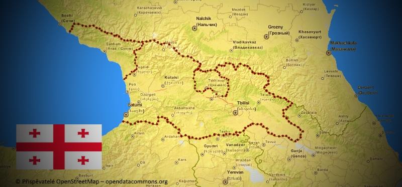 Mapa Gruzie