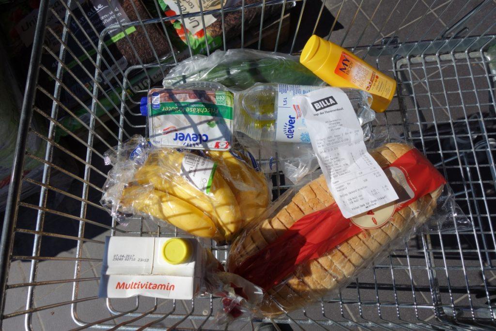příklad potravin konzumovaných během dne