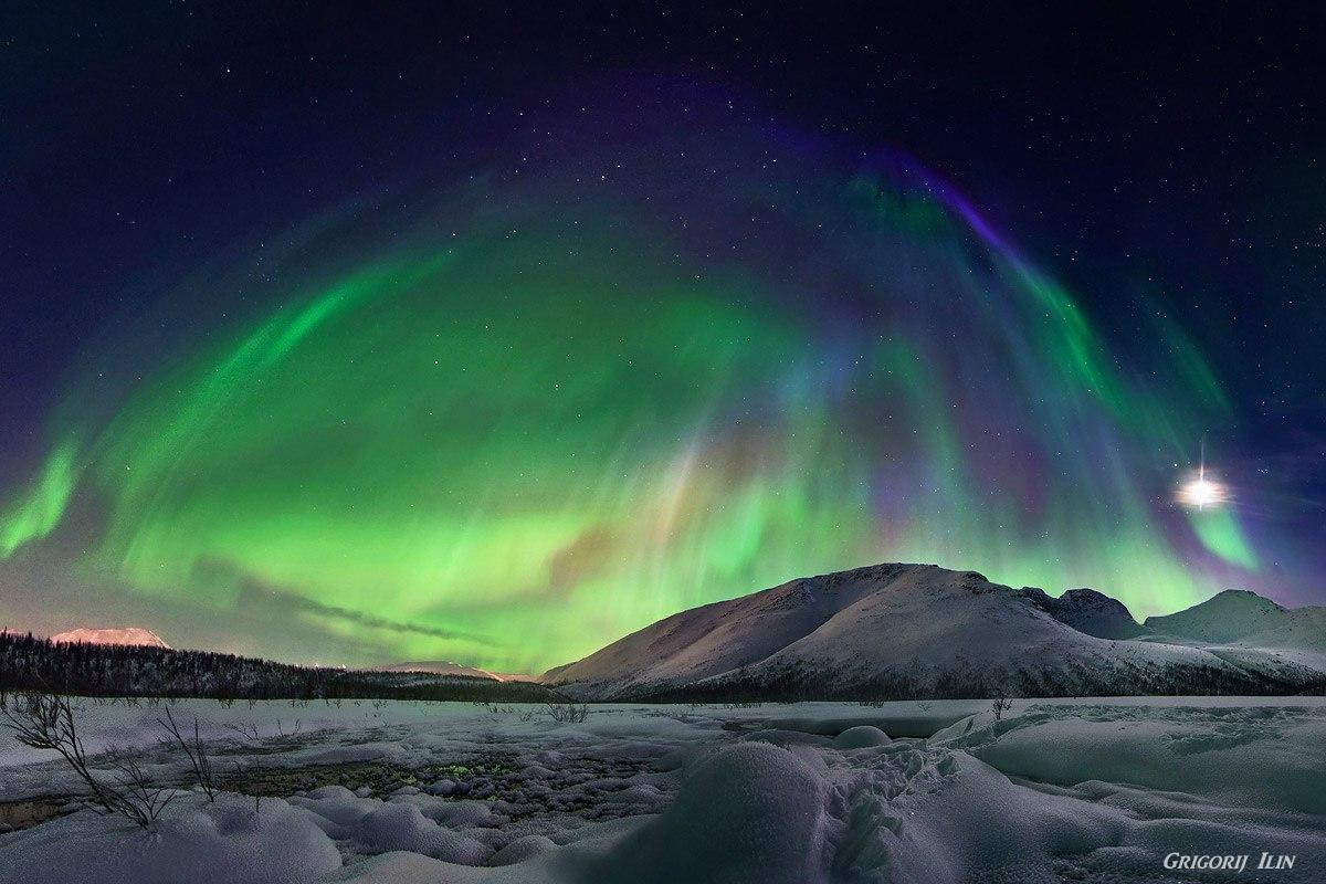 polární záře Grigorij Ilin