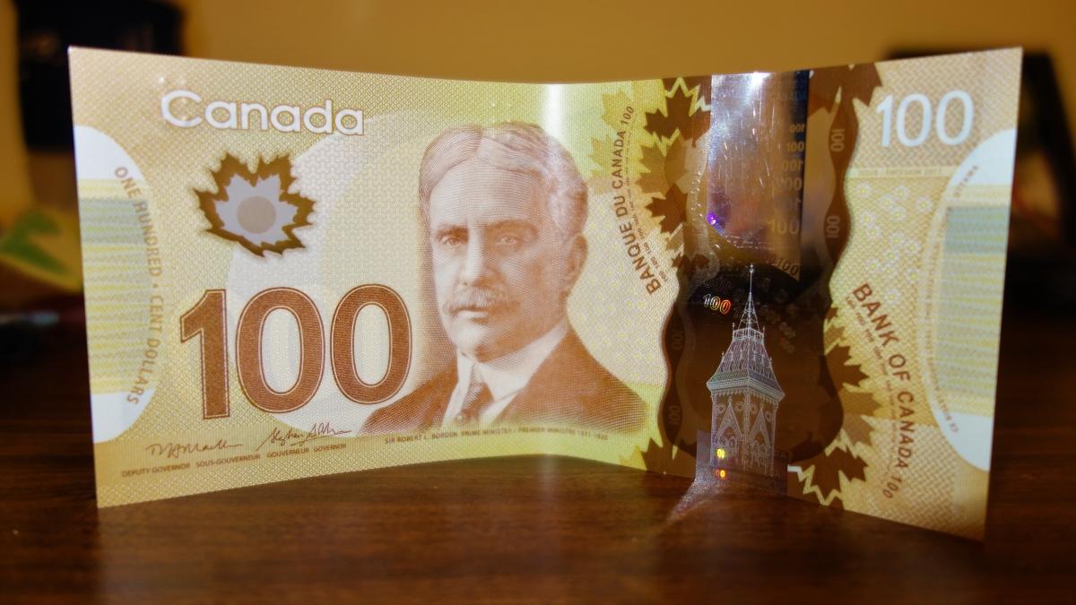kanadská plastová bankovka